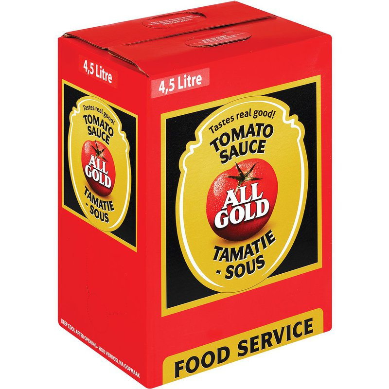 All Gold Tomato Sauce Bag in Box 4.5L