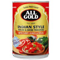 All Gold Value added Tomatoes – Indian  410g