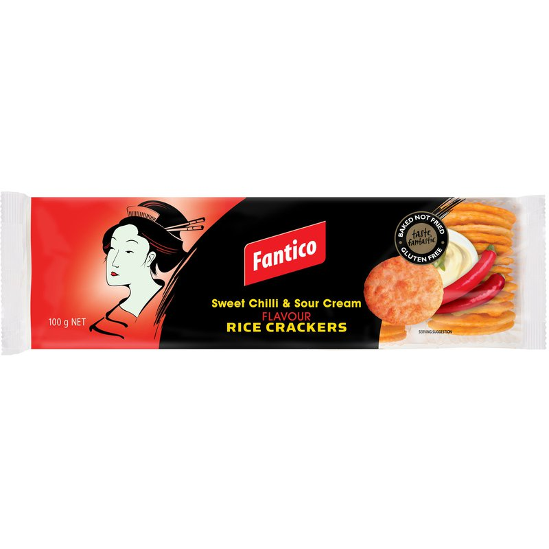 Fantico Sweet Chilli Rice Crackers 100g