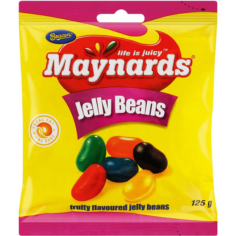 Maynards Fruity Flavoured Jelly Beans 125g
