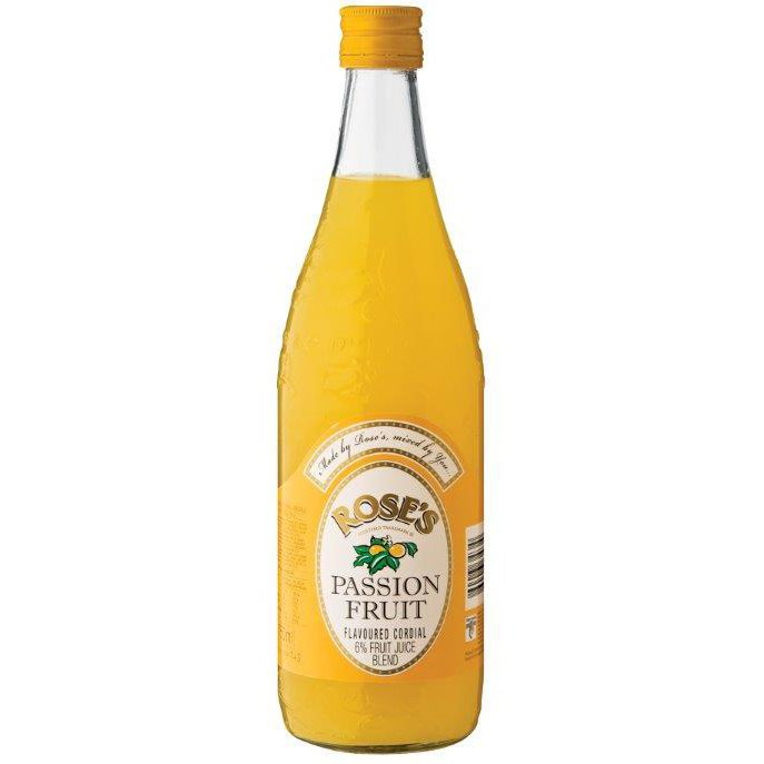 Rose's Passion Fruit Flavoured Cordial 750ml